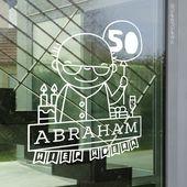 Hiep hoera 50 jaar Abraham