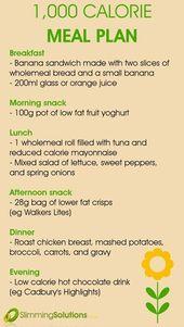 Wöchentliches Diätmenü-Dash-Menü
