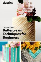 Leiten Sie es so, wie Sie es mit diesen 10 fantastischen Buttercremetechniken meinen   – Children Party Ideas