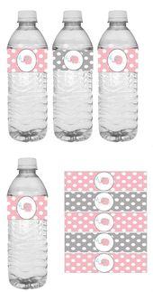 Pink Elephant Baby Shower Wasser Sticker – # Sticker # Babyparty #elefant #Wasser …   – Dekoration-Babyparty