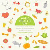 Fondo de hábitos y comida saludable | Descargar Vectores gratis  – Chidis