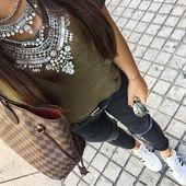 Glamouröse über der Top-Statement-Halskette #fashion #style #ootd #statementnec