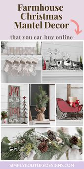 How To Adorn Farmhouse Christmas Mantel – Merely Couture Designs