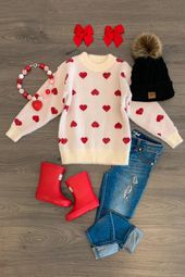 Cream Coronary heart Sweater