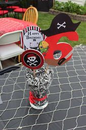Pirate Birthday Party Printable Decorations Package – Pirate Party Birthday Banner Cupcake Toppers –