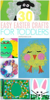30 Simple and Enjoyable Easter Crafts for Toddlers