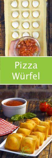 Drücke Pizzateig in Eiswürfelform und backe bei 180 ° C. Beeindruckend!