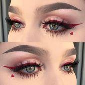 15 Make-ups, die Sie zum Valentinstag probieren sollten – #die #Makeups #probier