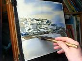 Aquarell-Demo von St. Ives Harbour in Cornwall