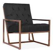 Black Velvet Upholstered Daphne Armchair   Vintage…