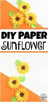 DIY Paper Sunflower Craft For Kids · The Inspiration Edit