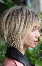 37 Kurze, abgehackte, geschichtete Frisuren - Unordentliche Bob-Frisuren-Trends für Herbst / Winter 2019–2020 - Kurze Bob-Frisuren #shortbobhaircutswithbangs