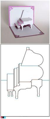 Piano Piano Papier Pliant Carte – #fabriquer #Klapp …