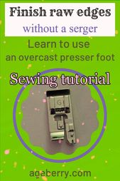 Methods to use overcast presser toes for stitching overcasting stitches