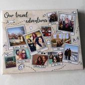 Personalisierte Reise Andenken Foto Geschenk Abenteuer Erinnerungen drucken bester Freund Familiengeschenk