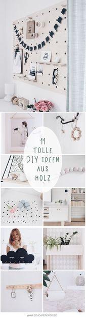Die schönsten DIY Ideen aus Holz – 11 Bastelanleitungen – DIY Deko und Wohnen