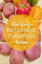 Receta fácil de papas para el desayuno para corredores, en la olla de cocción lenta   – plant-based bloggers