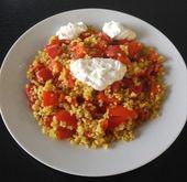 Rezept für Paprika-Bulgur-Pfanne, schnell und einfach gemacht   – Essen und Trinken