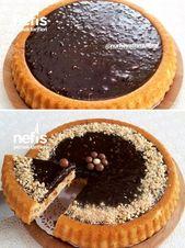 Çikolatalı Fındıklı Tart Kek (10 Dakikada Enfes Lezzet) Tarifi nasıl yapı…