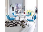 Retro Sitzgruppe in blau-weiß gestreift modern (5 Teile)   – Products