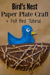Bird's Nest Spring Paper Plate Craft for Kids