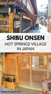 Shibu Onsen hot springs village walk in Nagano 🗾♨ Backpacking Japan travel blog