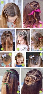 Easy Girls Hairstyles For Toddlers, Tweens & Teens   – Back to school