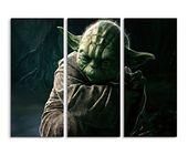 Meister Yoda Star Wars Wandbild (Leinwanddruck) 3 Stück 120×90 cm (…   – Bilder und Poster