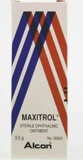 دليل القطرات Maxitrol Ointment مرهم العين ماكسيترول Ointment Country Flags