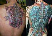 Biomechanik Tattoo: 50 Bilder von Bionic Motiven für Wade, Arm usw.