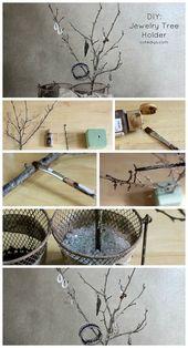 DIY Schmuck Baum Halter Schmuck Aufbewahrung DIY Schmuck Organisation Schmuck St …,  #Aufbe…