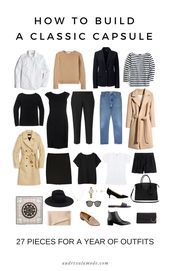 How To Build A Classic Capsule | 27 Easy Pieces Fo…
