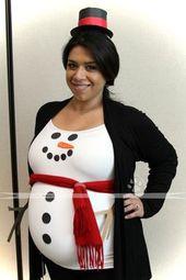 Baby Bump Frozen Olaf Schneemann Kostüm selber machen   Kostüm Idee zu Weihnachten, Karn...