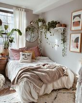 First apartment bohemian bedroom decoration ideas for you to see 7