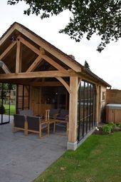 Casa de la piscina en roble Flandes Occidental Realizaciones casas de piscina de madera   – Oma