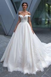 Robe de bal épaule robe de mariée # robe de bal # robe robe # épaule #weddingdres …