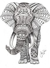 16 coloring pages elephant mandala to print more
