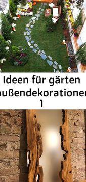 # Außendekorationen # für #Garten #Ideen für Gärten Außendekorationen 1 …   – pflanzen