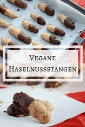 Rezept: Vegane Haselnussstangen   – Vegan