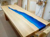 Kasparo-Tisch mit Harz und LED die lebendig, von hand gemacht, auf Wunsch, eine Tabelle einen neuen Baum