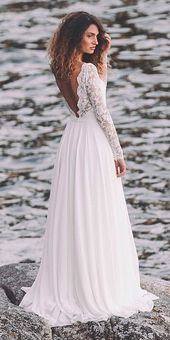 30 simple wedding dresses for elegant brides ❤ simple beach wedding dresses