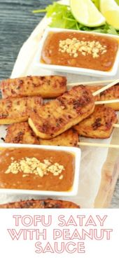 TOFU SATAY WITH PEANUT SAUCE  One rank was our enumerate favourite. It was calle…