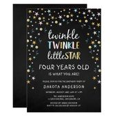 Baby Showers Twinkle Twinkle Little Star 4 Years Old Is What You Are!