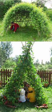 12 erstaunliche Gartendekorationen (lebende Strukturen), die Sie verursachen können!