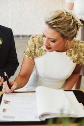 Tendances mariage : la robe de mariée dorée a tout pour plaire