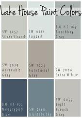Die besten Farben für Seehausfarben – beruhigende Blues und Grautöne, alle