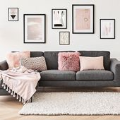 Finally: The perfect gray sofa, with plenty of space and trendy style. The gray bear …