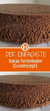 Der einfachste Kakaokuchenboden (Grundrezept) – FRÜHSTÜCK