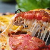 Meatza! Low carb crust. Pizza crust with ground meat.