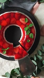 Bright Red Berry Jello Mousse